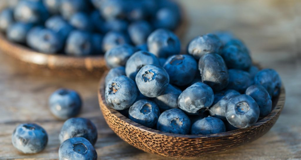 Blueberries has Anti Inflammatory properties